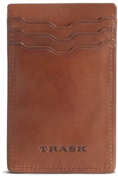 Trask Men's Colton Money Clip Card Case - Brown