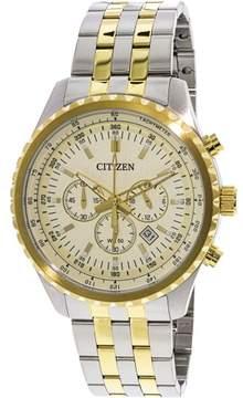Citizen Men's AN8064-56P Silver Stainless-Steel Plated Japanese Quartz Dress Watch