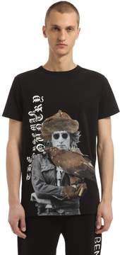 Les Benjamins John Lennon Printed Cotton T-Shirt