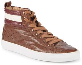 Bally Men's Heaven Havana Leather Sneakers