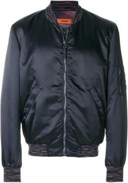 Missoni colourful hem bomber jacket