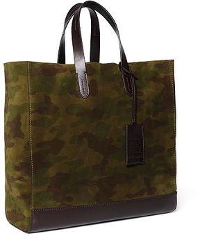 Ralph Lauren Camouflage Suede Tote