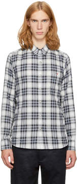 Moncler Gamme Bleu Grey Plaid Shirt