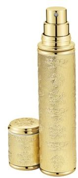 Creed Refillable Goldtone Leather & Goldtone Trim Pocket Atomizer