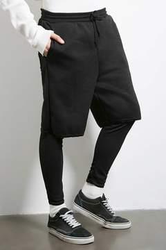 21men 21 MEN Cross Colours Layered Shorts