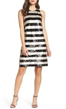 Eliza J Women's Reversible Stripe Sequin Shift Dress