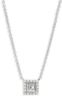 Bony Levy Women's Amara Diamond Square Pendant Necklace (Nordstrom Exclusive)