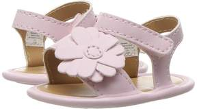 Baby Deer Double Strap Sandal with Flower (Infant)