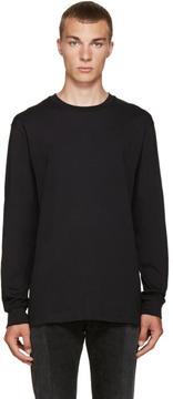 Hood by Air Black Cut-Out T-Shirt