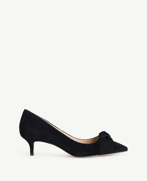 Ann Taylor Ashlyn Suede Bow Pumps