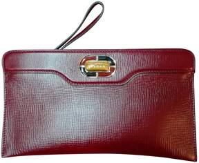 Bulgari Vintage Burgundy Leather Clutch Bag
