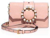 Miu Miu Jeweled Leather Crossbody/Belt Bag