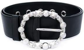 Miu Miu studded buckle belt