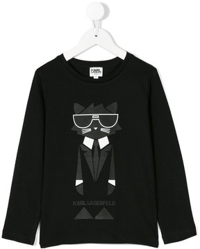 Karl Lagerfeld cat print top