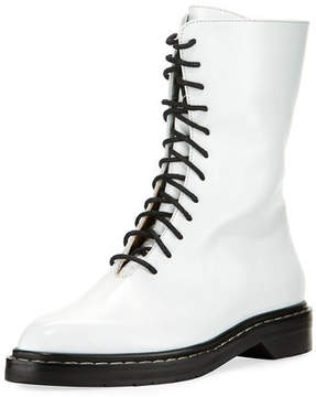The Row Fara Lace-Up Leather Combat Boot