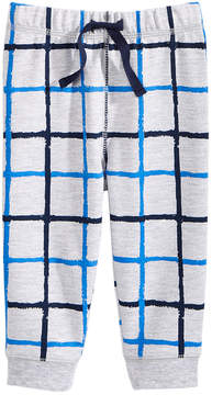 First Impressions Windowpane-Print Jogger Pants, Baby Boys (0-24 months), Created for Macy's