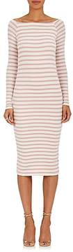 ATM Anthony Thomas Melillo Women's Striped Rib-Knit Off-The-Shoulder Dress