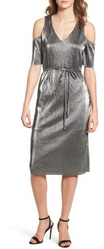 Everly Women's Metallic Cold Shoulder Dress