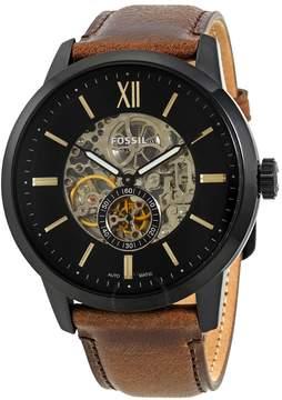 Fossil Townsman Automatic Black Skeleton Dial Men's Watch