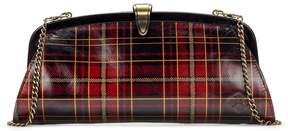 Patricia Nash Gold Foil Tartan Collection Ardales Clutch