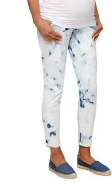 A Pea in the Pod Luxe Essentials Denim Secret Fit Belly Tie Dye Maternity Jean