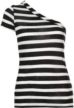 RtA Anais One Striped Asymmetric T-Shirt