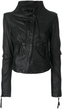 Barbara I Gongini off-centre zipped jacket