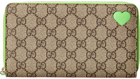 Gucci Beige Gg Supreme Coated Canvas Zip Around Wallet - ONE COLOR - STYLE