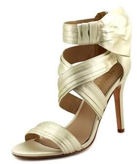 Nicole Miller Jackson Open Toe Canvas Sandals.