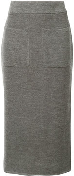 CITYSHOP knitted front pocket skirt