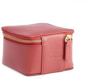 Royce Leather Royce Red Trinket Case in Genuine Leather
