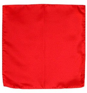 Forzieri Red Silk Pocket Square