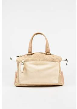 Reed Krakoff Pre-owned Cream & Beige Canvas Leather Woven uniform Tote Bag.