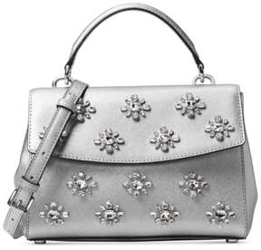 MICHAEL Michael Kors Small Embellished Ava Crossbody - SILVER - STYLE