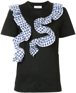 Facetasm frilled T-shirt