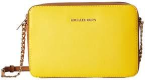 MICHAEL Michael Kors Jet Set Travel Large East/West Crossbody Cross Body Handbags - BURNT RED - STYLE