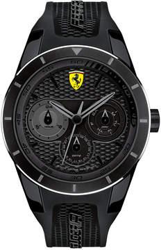 Ferrari Scuderia Men's RedRev T Black Silicone Strap Watch 44mm 830259