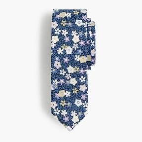 J.Crew Boys' cotton tie in blue floral