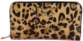 Dolce & Gabbana Leopard Print Zip Around Wallet - LEO - STYLE