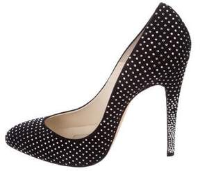 Brian Atwood Embellished Suede Pumps