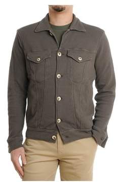 H953 Men's Brown Cotton Cardigan.