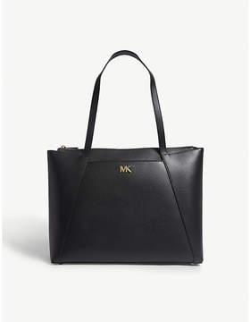 MICHAEL Michael Kors Michael Kors Black Maddie Leather Tote Bag