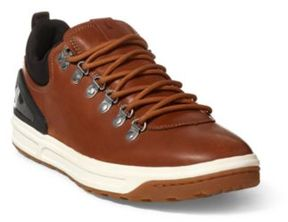 Ralph Lauren Adventure 100 Leather Sneaker Deep Saddle Tan 10