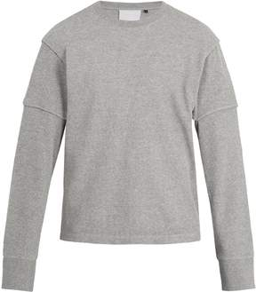 Helmut Lang Long-sleeved cotton-waffle top