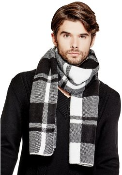 GUESS Men's Brushed Plaid Scarf