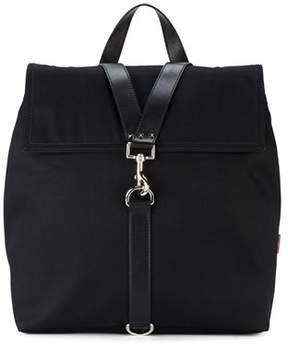 Valentino Men's Black Cotton Backpack.