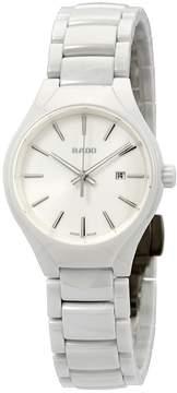 Rado True White Dial Ladies Ceramic Watch