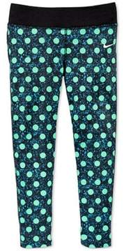 Nike Girls Green Polka Dot Leggings