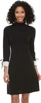 Elle Women's Mock-Layer Sheath Dress