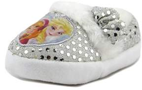 Disney Frozen Slipper Toddler Round Toe Canvas Silver Slipper.